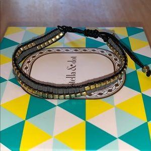 Stella & Dot Farrell pulley bracelet, Gold
